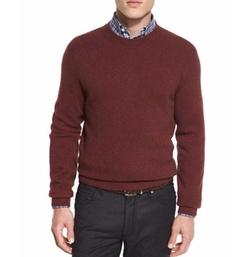 Seamless Yak Crewneck Sweater by Ermenegildo Zegna in Collide