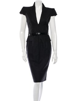 Sheath Dress With Standing Collar by Alexander Mcqueen in Crazy, Stupid, Love.