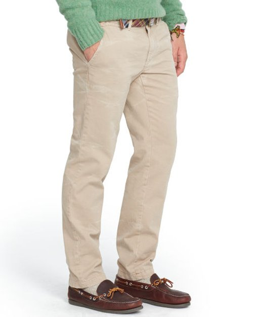 Straight-Fit Washed Chino Pants by Ralph Lauren in Crazy, Stupid, Love.