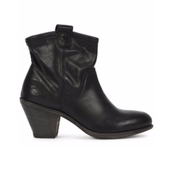 Ankle Wood Heel Side Zip Boots by Fiorentini and Baker in Jason Bourne