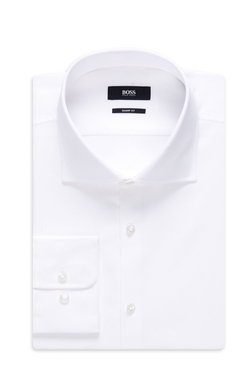 Sharp Fit, Cotton Textured Dress Shirt by Boss in Youth
