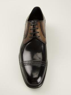 Stitch Detail Oxford Shoes by Dolce & Gabbana in Mortdecai