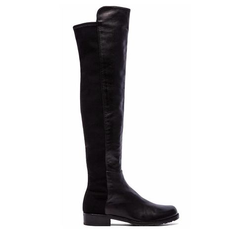5050 Stretch Leather Boots by Stuart Weitzman  in Pretty Little Liars - Season 7 Episode 3