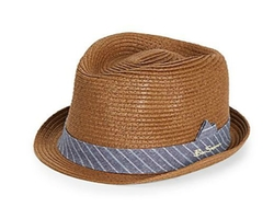 Paper Straw Fedora Hat by Ben Sherman in Begin Again