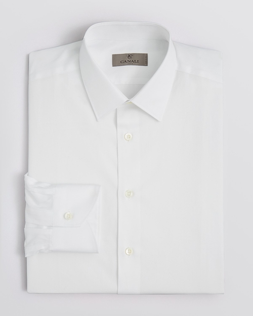 Point Collar Basic Dress Shirt by Canali in Sex and the City