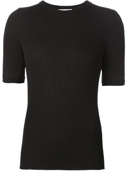 Ribbed Short Sleeve Sweater by Beau Souci in Supergirl