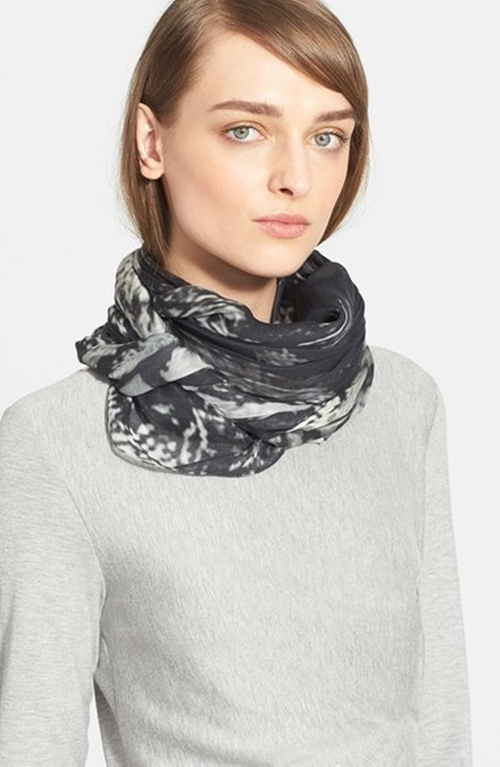 Owl Print Modal & Cashmere Scarf  by Max Mara in A Walk in the Woods