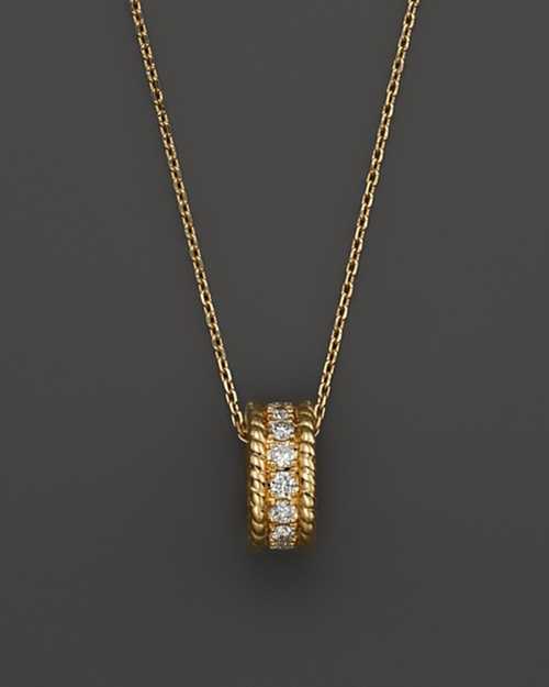Diamond Rolling Pendant Necklace by Bloomingdales in The Town