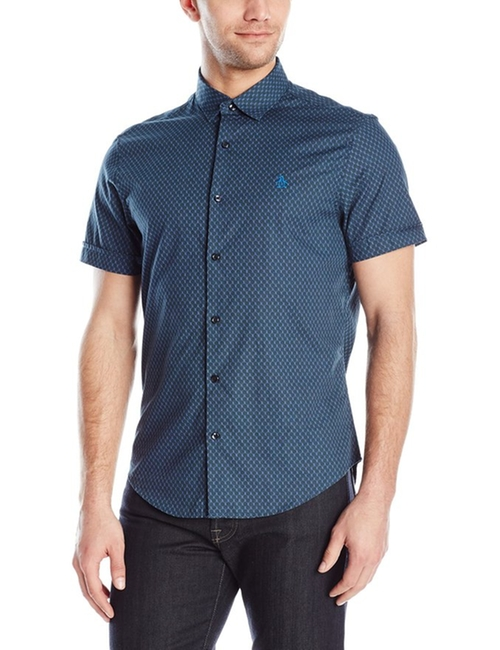 Men's Short-Sleeve Printed Foulard Button Down Shirt by Original Penguin  in The Great Indoors - Season 1 Preview