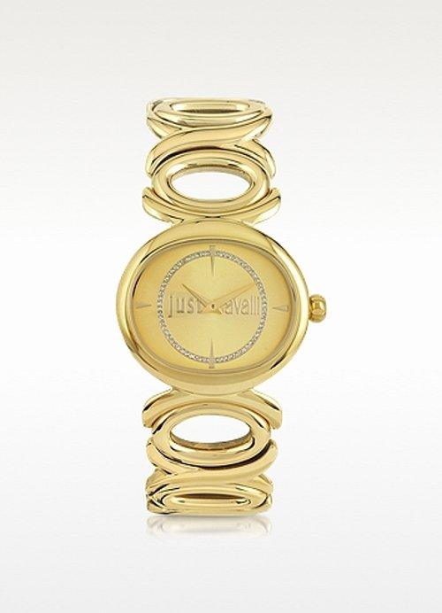 Champagne Dial Gold Stainless Steel Watch by Just Cavalli in Hall Pass