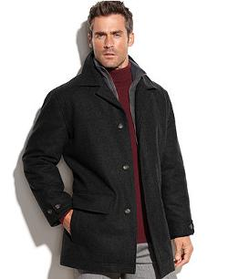 Microsuede Bib Wool-Blend Car Coat by London Fog Bristol in The Expendables 3