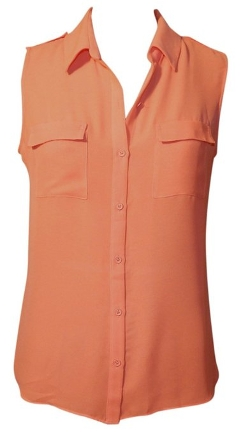 Arianna Sleeveless Button Front Blouse by T Tahari in Me and Earl and the Dying Girl
