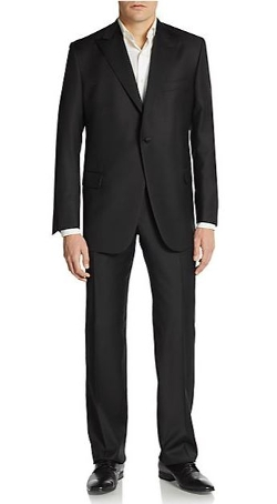 Peaked Lapel Worsted Wool Suit by Hickey Freeman in Hitman: Agent 47