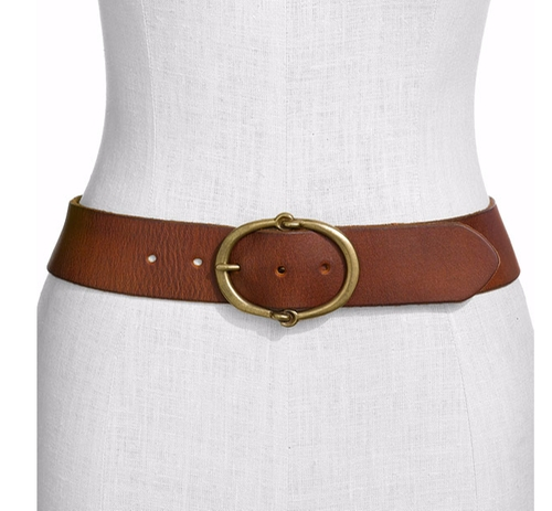 Leather Belt by Lauren Ralph Lauren in Rosewood