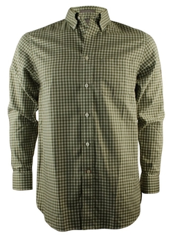 Men's Long-Sleeve Gingham Non-Iron Shirt by Daniel Cremieux Signature in Modern Family