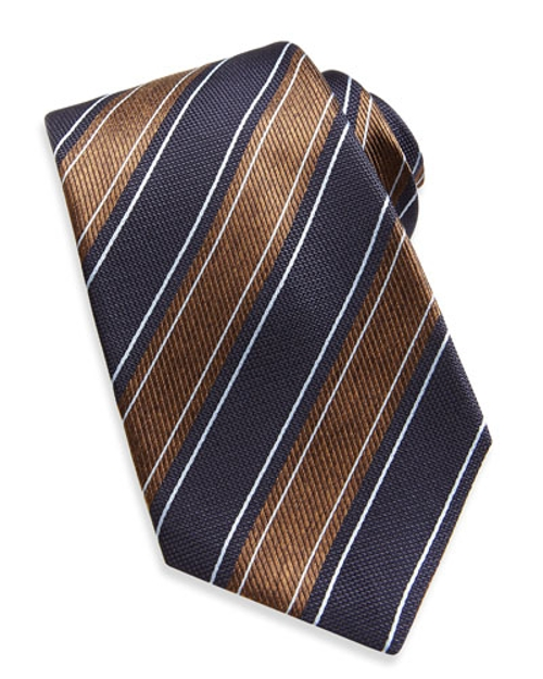 Wide Rope-Stripe Woven Tie by Kiton in Southpaw