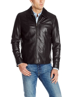 Smooth Leather Collar Jacket by Cole Haan in Love & Mercy