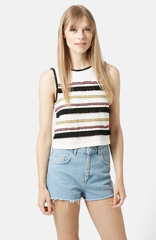 Fringe Festival Tank by Topshop in Pretty Little Liars