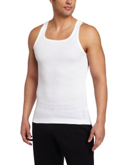 Cotton Tank Top by Boss Hugo Boss in Barely Lethal