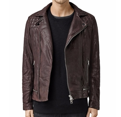Conroy Leather Biker Jacket by All Saints in The Fate of the Furious