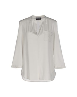 V-Neckline Blouse by Emporio Armani in Elementary