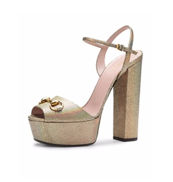 Claudie Iridescent Platform Sandals by Gucci in Scream Queens