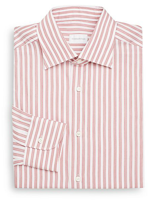 Pastel Stripe Dress Shirt by Ermenegildo Zegna in The Judge