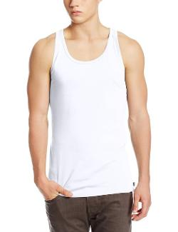 Essential Simon Cotton Tank Top White by Diesel in Pain & Gain