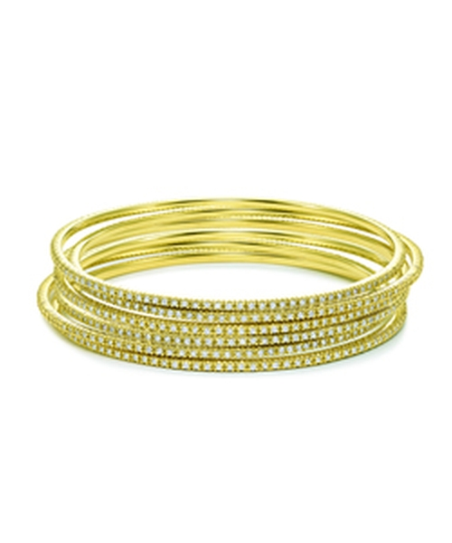 Gold And Diamond Bangles by KC Designs in Sex and the City