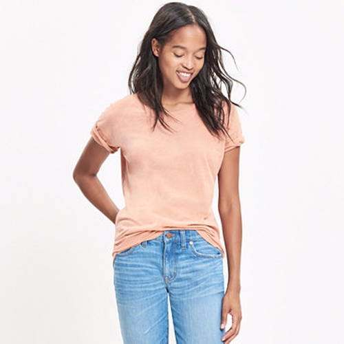 Whisper Cotton Crewneck Tee by Madewell in The Boss