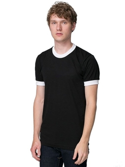 Men's Poly-Cotton Short Sleeve Ringer T -Shirt by American Apparel in Night at the Museum: Secret of the Tomb