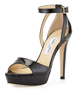 Kayden Patent Platform Sandals by Jimmy Choo in American Horror Story