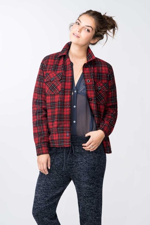 Boyfriend Shirt Jacket by Faherty in The Bachelorette - Season 12 Episode 5