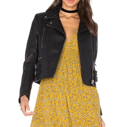 Soho Vegan Leather Jacket by Free People in New Girl