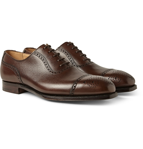 Scotch-Grain Leather Oxford Shoes by George Cleverley in Suits - Season 5 Episode 1