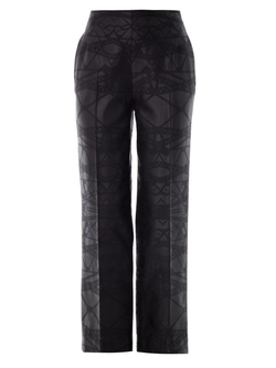 Bridge Jacquard Wool Trousers by Mary Katrantzou in Chelsea