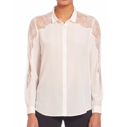 Lace Yoke Silk Shirt by The Kooples in Lethal Weapon