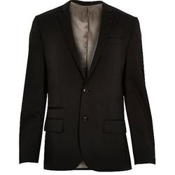 Wool-Blend Slim Suit Jacket by Black in Now You See Me 2