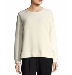 Organic Cotton-Blend Ottoman Pullover by Eileen Fisher in American Horror Story