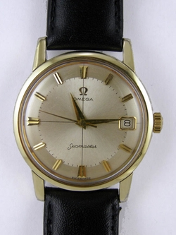 Gold Shell Seamaster Wristwatch circa 1960s by Omega in The Man from U.N.C.L.E.