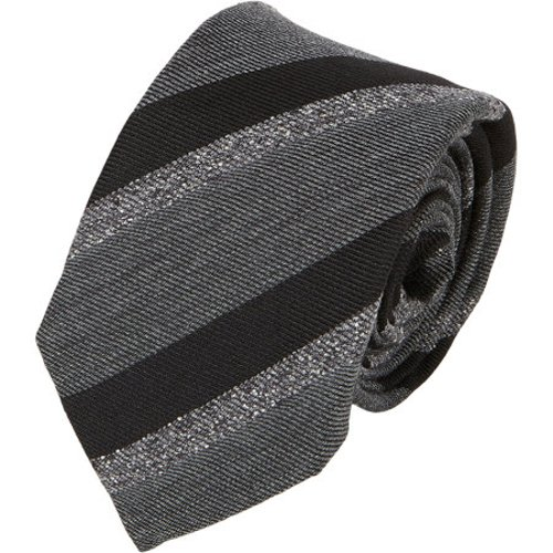 Mixed-Stripe Neck Tie by Alexander Olch in (500) Days of Summer