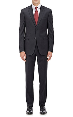 Worsted Drop 8 Two-Button Suit by Z Zegna in Arrow