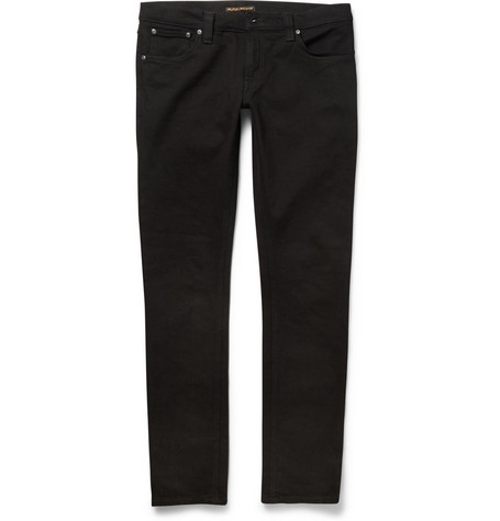 Tight Long John Slim-Fit Organic Dry-Denim Jeans by Nudie Jeans in Man of Tai Chi