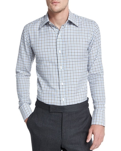 Tattersall Check Dress Shirt by Tom Ford in Silicon Valley