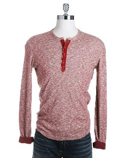 Long-Sleeve Twisted Slub Henley by Lucky Brand in Addicted