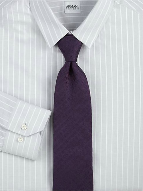 Striped Cotton Dress Shirt by Armani Collezioni in The Place Beyond The Pines