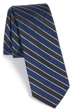 Stripe Silk & Wool Tie by W.R.K in Elementary