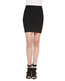 Simone Bandage Pencil Skirt by BCBGMAXAZRIA in Barely Lethal