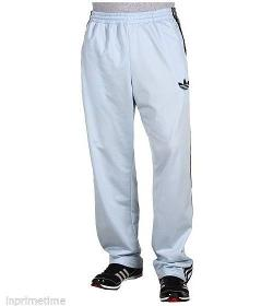 Firebird 3 Stripe Workout Track Pants Steel Grey by Adidas Originals in Pain & Gain