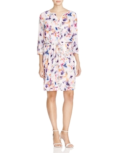Alexa Printed Pleat Back Dress by NYDJ in New Girl